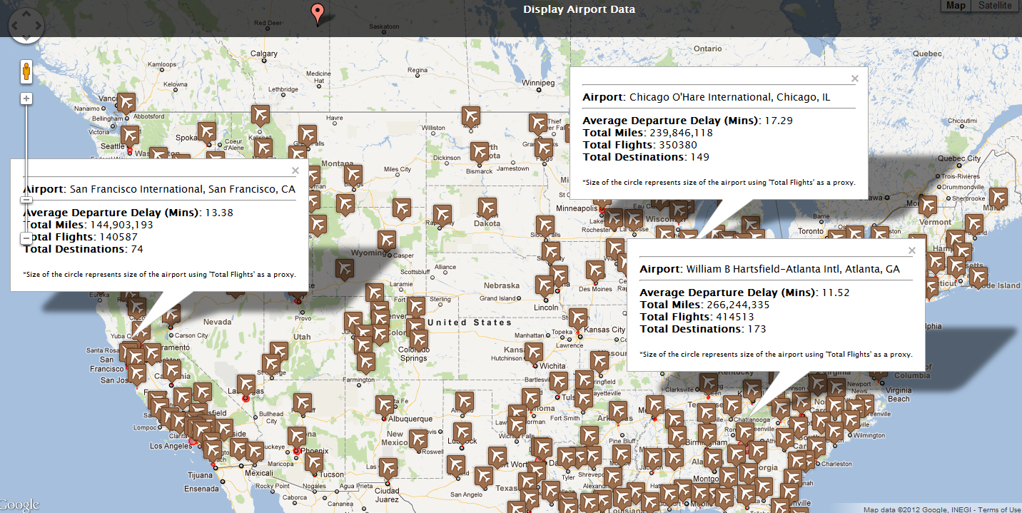 All Things R Big Data R And HANA Analyze Million Data - Map of all us airports